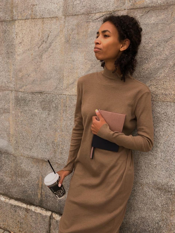 Платье-лапша в кофейном цвете_1