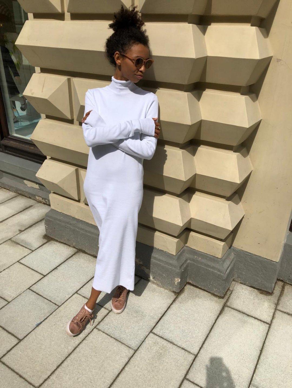 Платье-лапша белое_0