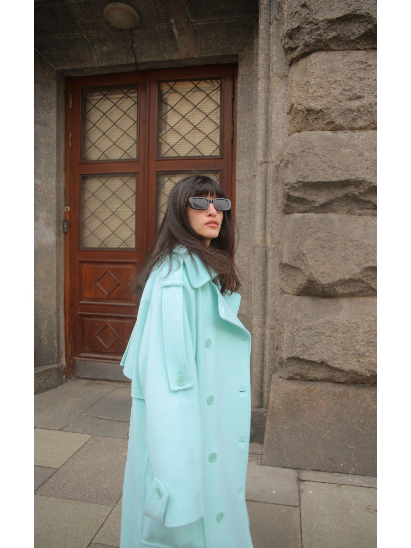 Демисезонное пальто Пушкин в мятном цвете_1