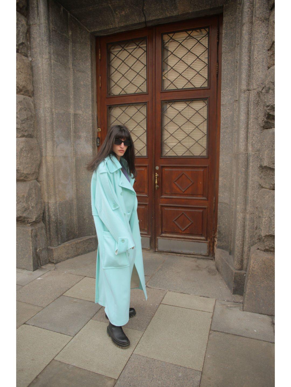 Демисезонное пальто Пушкин в мятном цвете_2