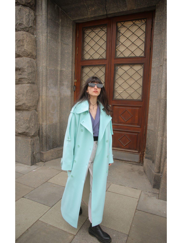 Демисезонное пальто Пушкин в мятном цвете_3