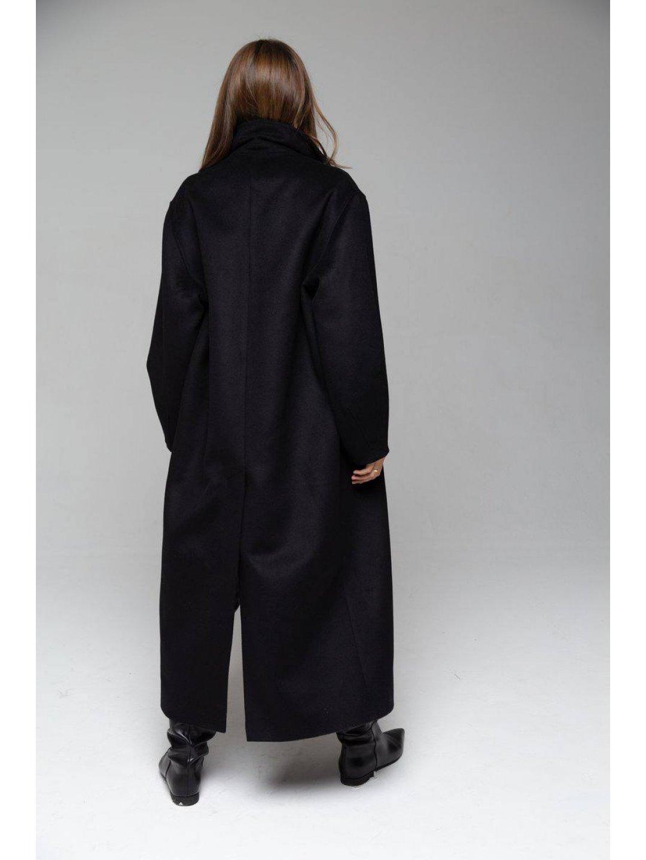 Пальто-кокон в чёрном цвете_1