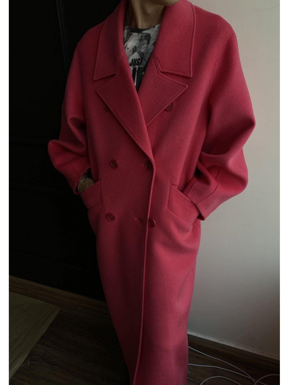 Пальто - кокон в розовом цвете_1
