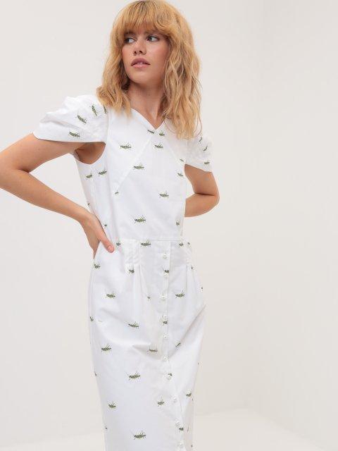 Платье в кузнечиках