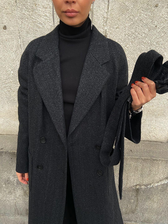Утепленное пальто Гоголя в цвете графит_2