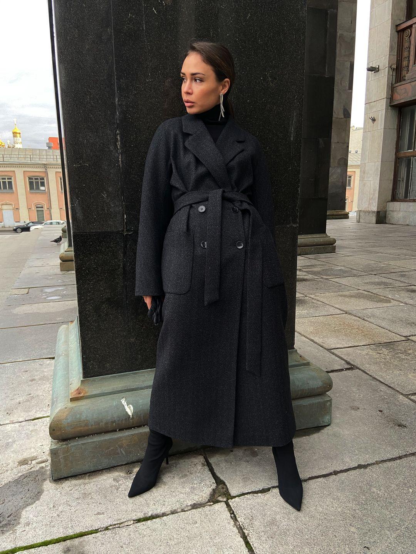Утепленное пальто Гоголя в цвете графит_3