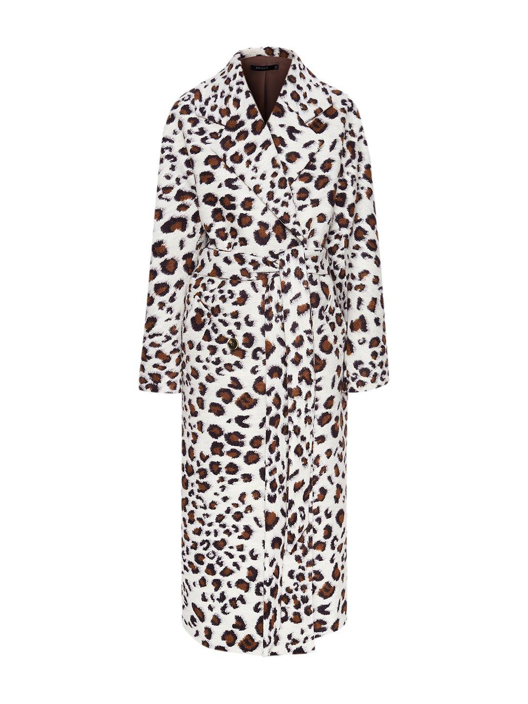 Демисезонное светлое леопардовое пальто с английским воротником_0