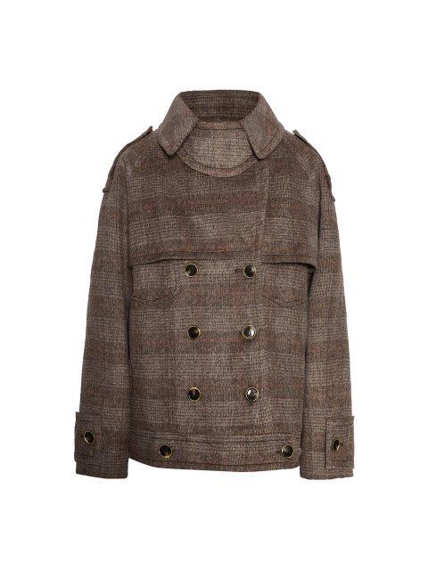 Пальто-тренч укороченное