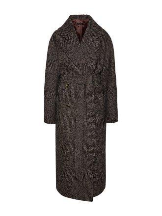Пальто ёлочка темная