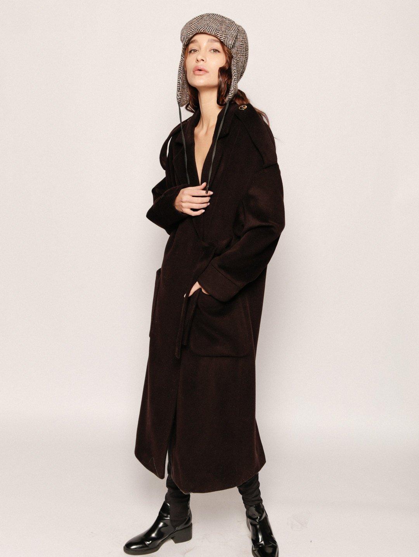 Демисезонное пальто модель номер 8 в цвете горький шоколад_3