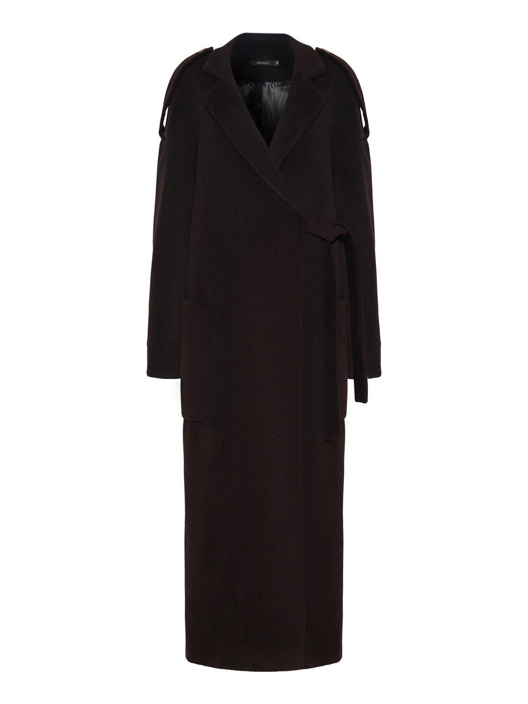 Демисезонное пальто модель номер 8 в цвете горький шоколад_0