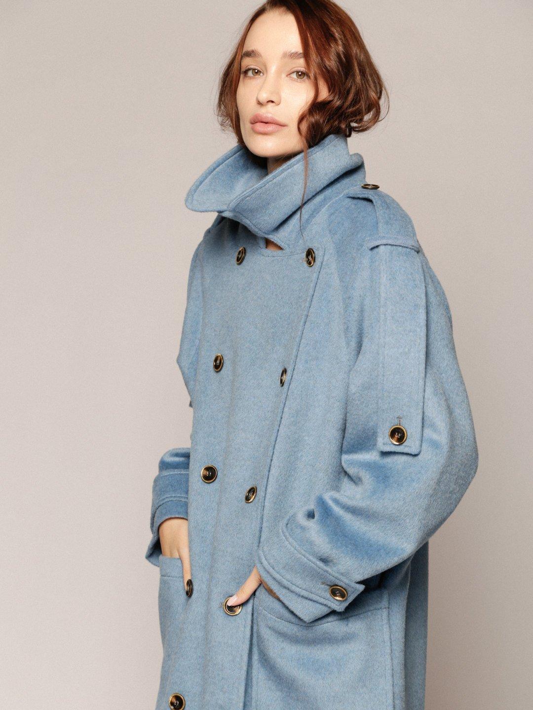 Демисезонное пальто Пушкин в небесном цвете_1