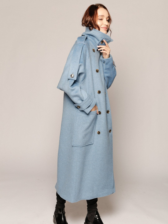Демисезонное пальто Пушкин в небесном цвете_3