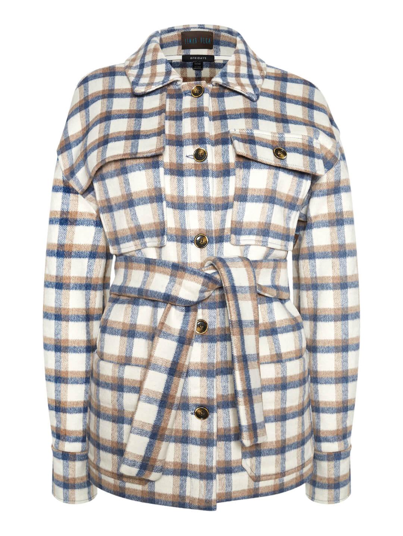 Пальто-рубашка в клетку_0