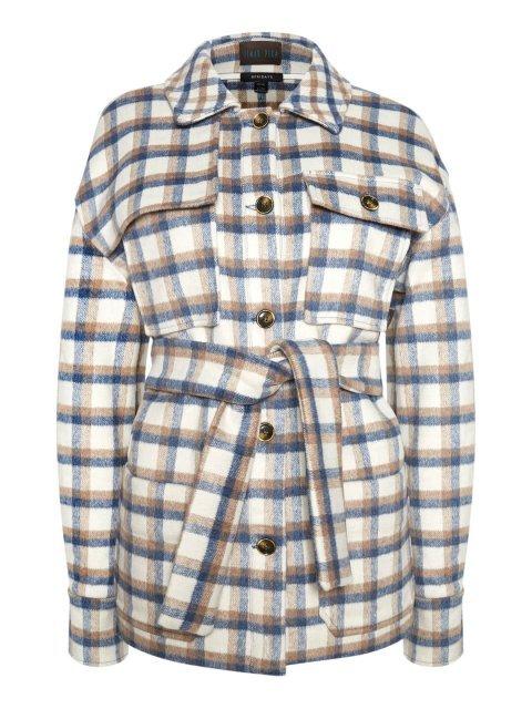 Пальто-рубашка в клетку