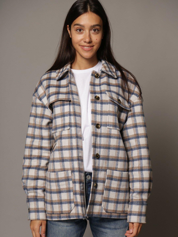 Пальто-рубашка в клетку_1