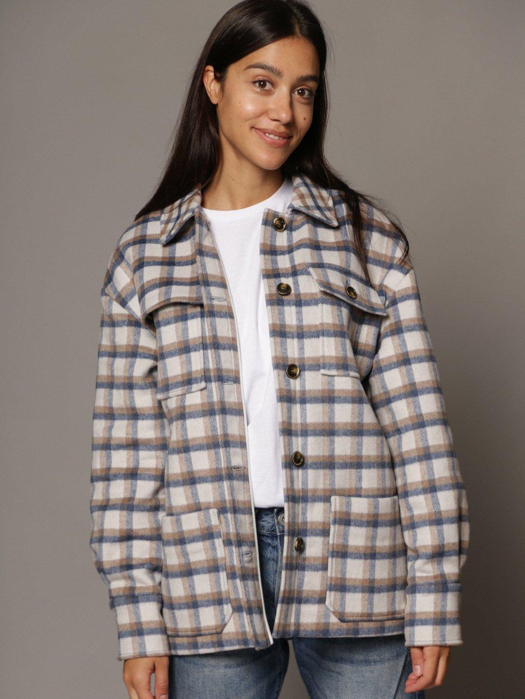 Пальто-рубашка в клетку_2