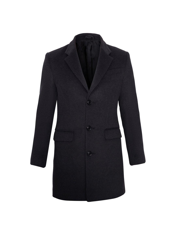 Мужское пальто-пиджак в цвете графит_0