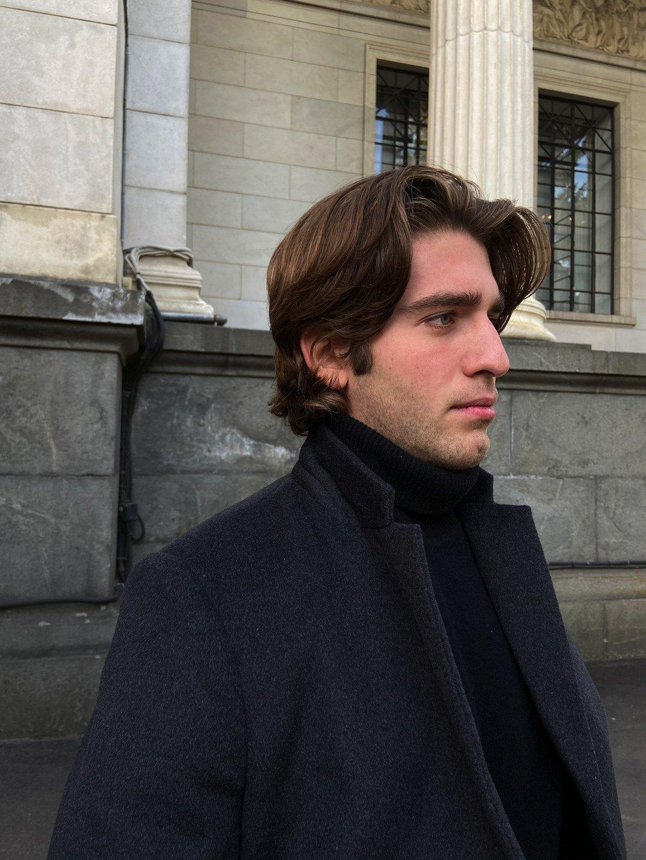 Мужское пальто-пиджак в цвете графит_3