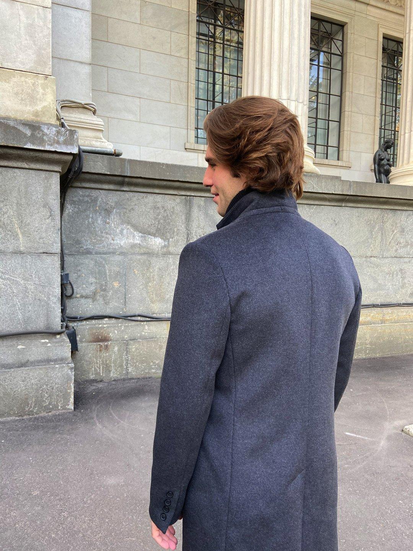 Мужское пальто-пиджак в цвете графит_4