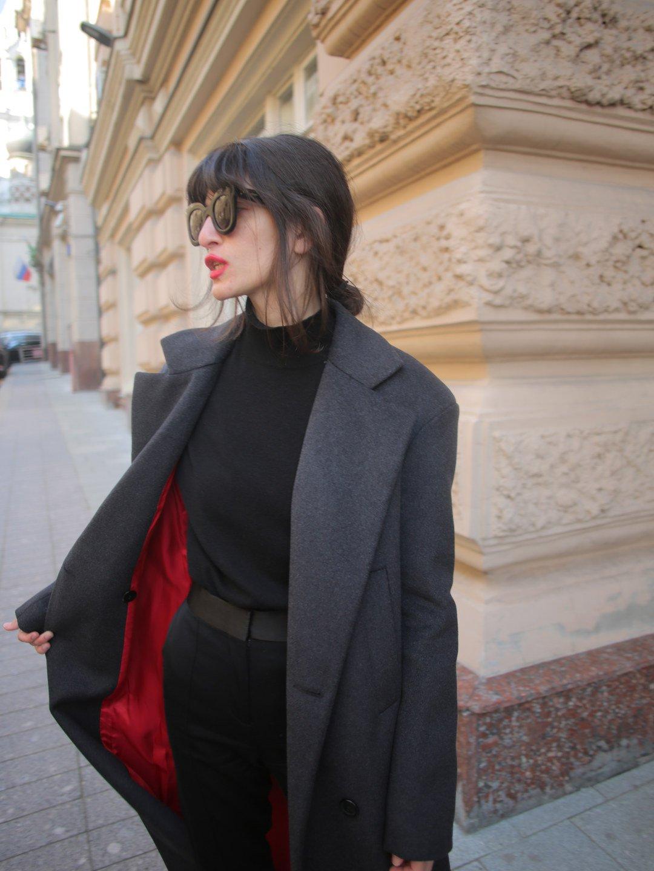 Утепленное батино пальто в цвете графит_5