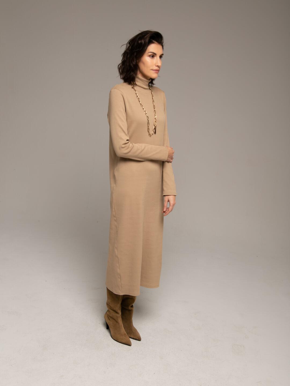 Платье-лапша кэмел_3