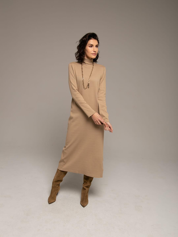 Платье-лапша кэмел_2