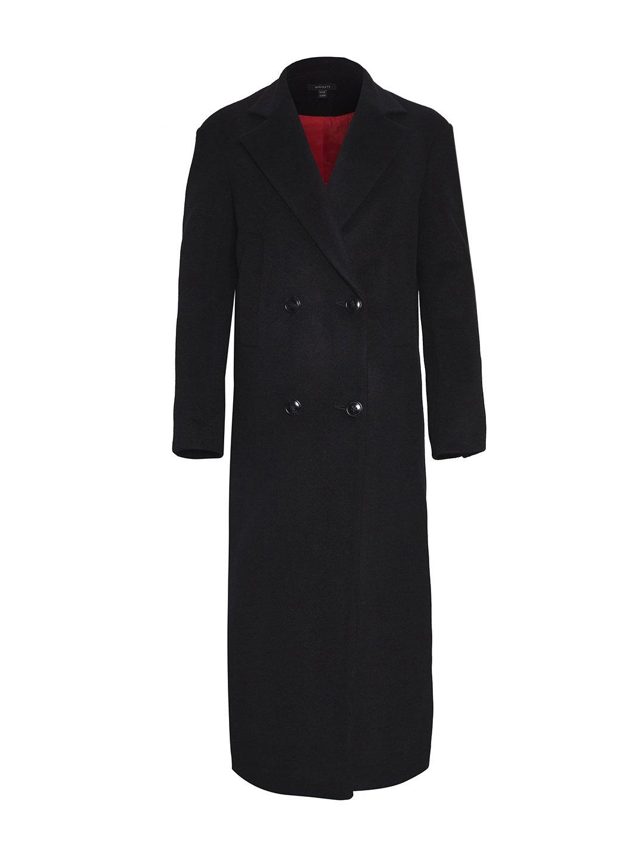 Утеплённое батино пальто в чёрном цвете_0