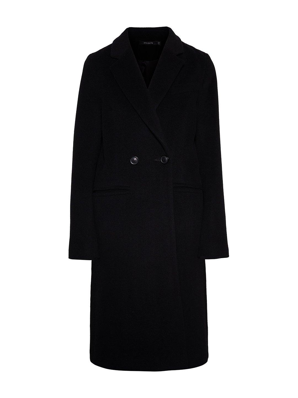 Классическое пальто в чёрном цвете_0