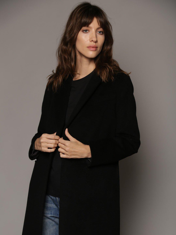 Классическое пальто в чёрном цвете_1