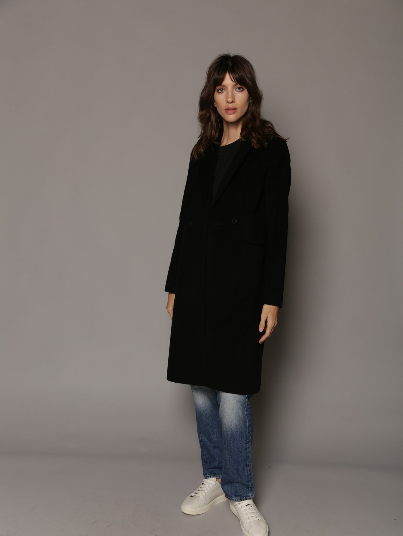 Классическое пальто в чёрном цвете_2