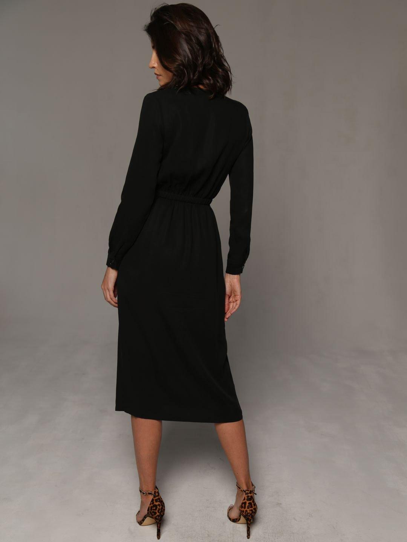 Платье-миди в чёрном цвете_2