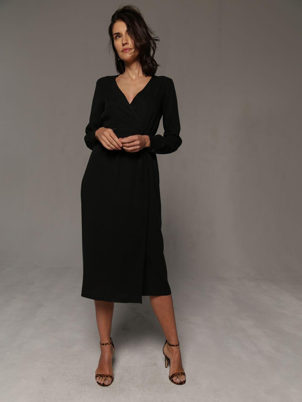 Платье-миди в чёрном цвете_1