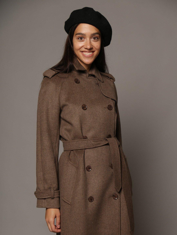 Пальто-тренч в коричневом цвете_4